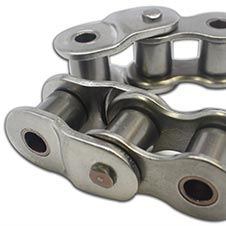 How can the wear in a roller chain be accurately measured and when is the  chain considered worn out  a0c7dc97b